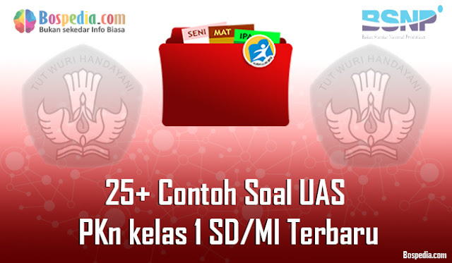 25+ Contoh Soal UAS PKn kelas 1 SD/MI Terbaru
