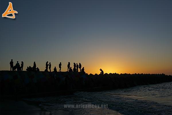 Sunset Pantai MJ Muara Indah Desa Arung Parak Sambas