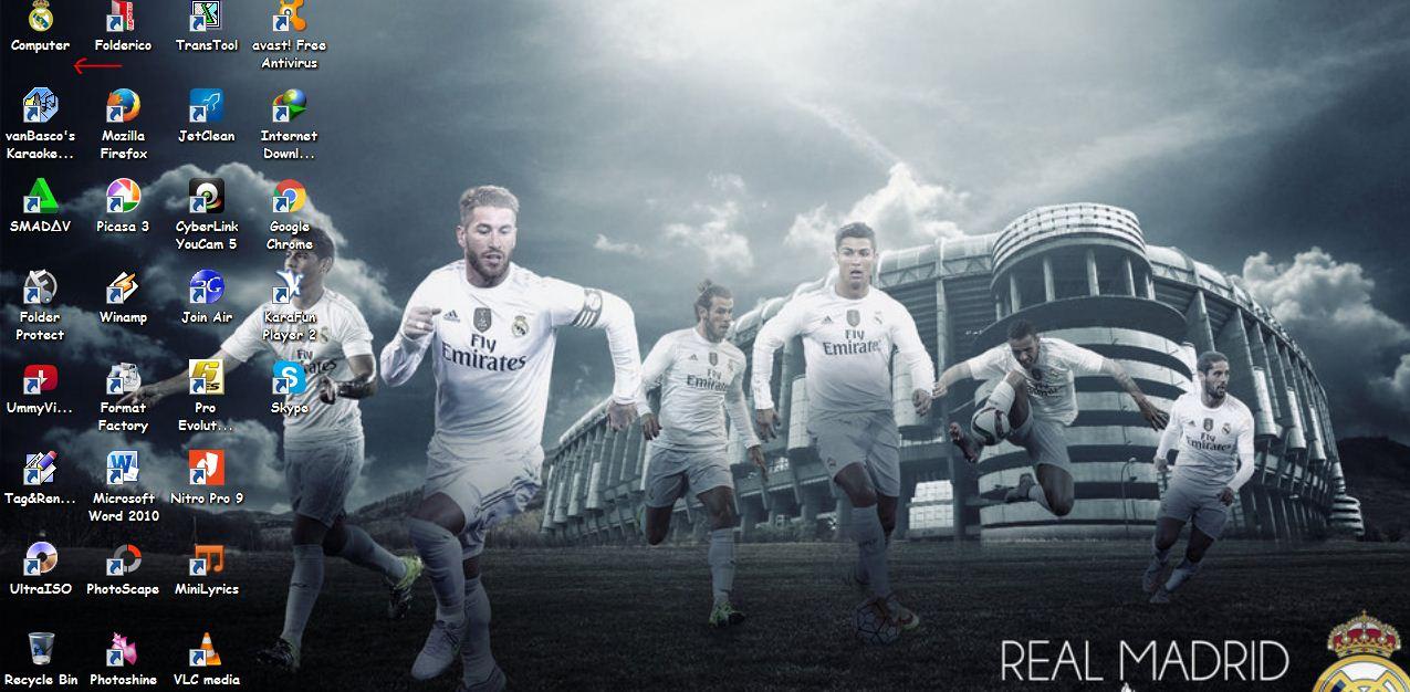 Download Tema Real Madrid Terbaru 2016 For PC