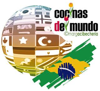 Logo cocinas del mundo de primavera, dedicado a Brasil
