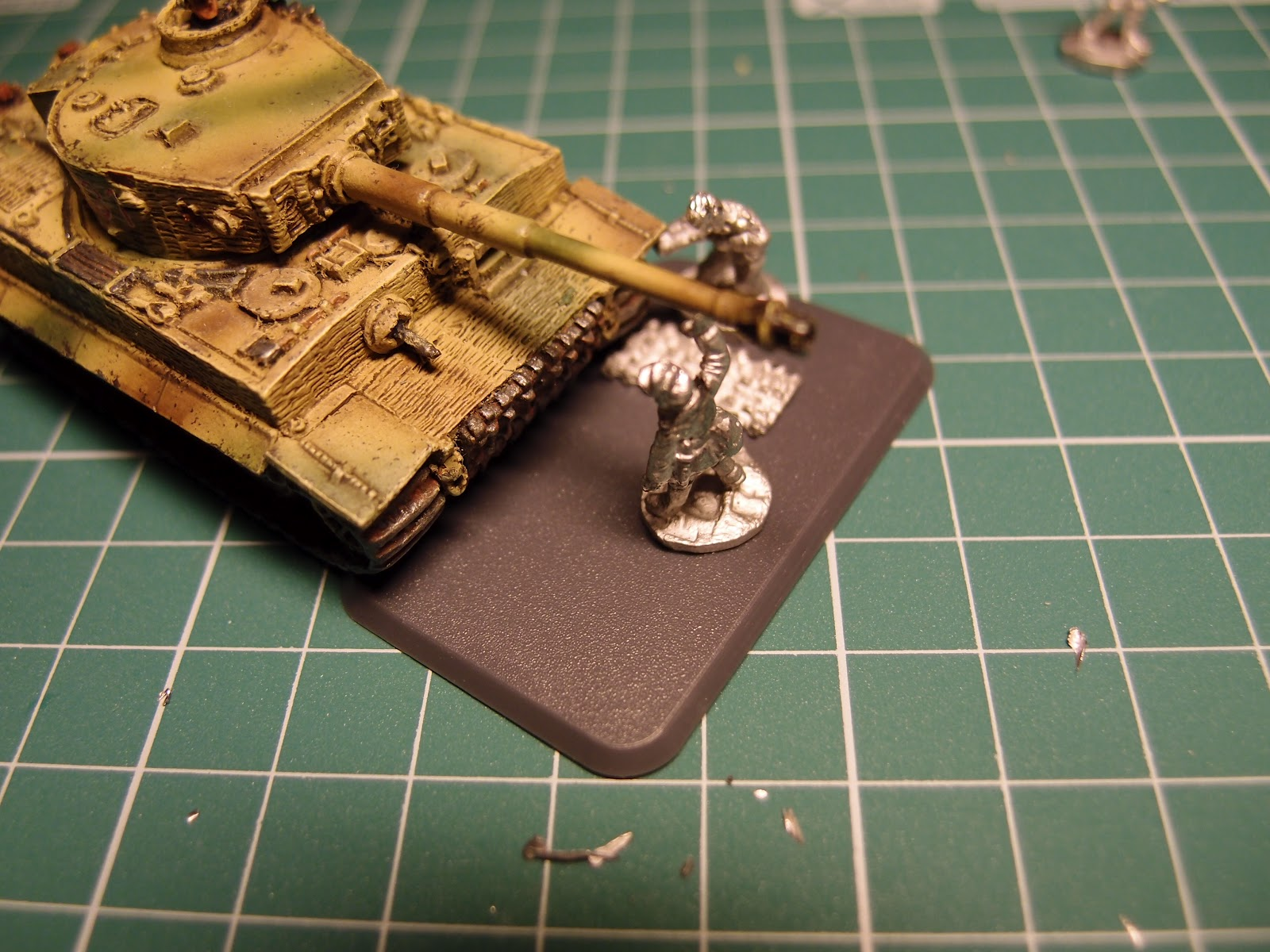 Flames of War Army: Scenic bail out and bogged down markers