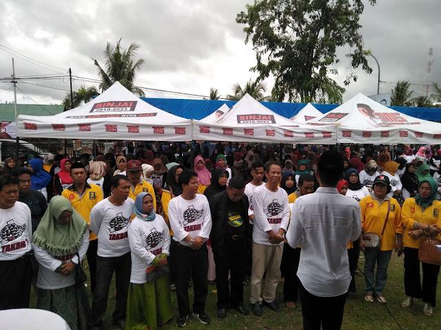 Yakin Menang,  A. Awaluddin dan Pedagang Pasar Beri Dukungan ke Takbir