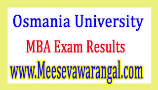 Osmania University MBA 2nd Sem Regular / 1st Sem Backlog July 2016 Recounting Results