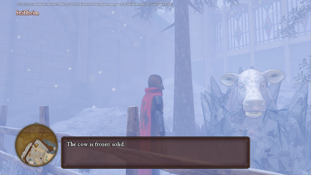 Dragon Quest XI S Sniflheim frozen solid cow