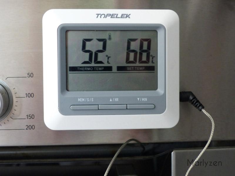 Programmez le thermomètre à 68°C.