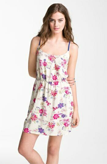 Open neck floral dress