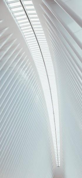 خلفية قوس هندسي أبيض بتصميم حديث