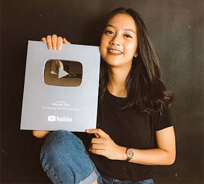 Michela Thea Silver Play Button