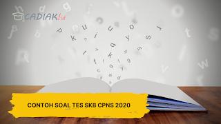 Contoh Soal Tes SKB CPNS 2020