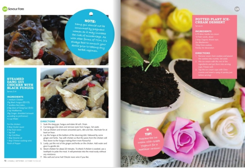 livewell magazine features potted plant desserts