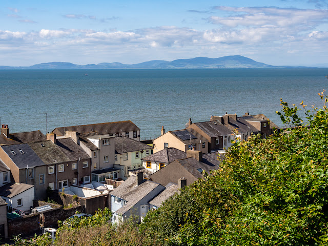 Photo of the view across the Solway Firth to the Scottish hills from the top of Market Steps