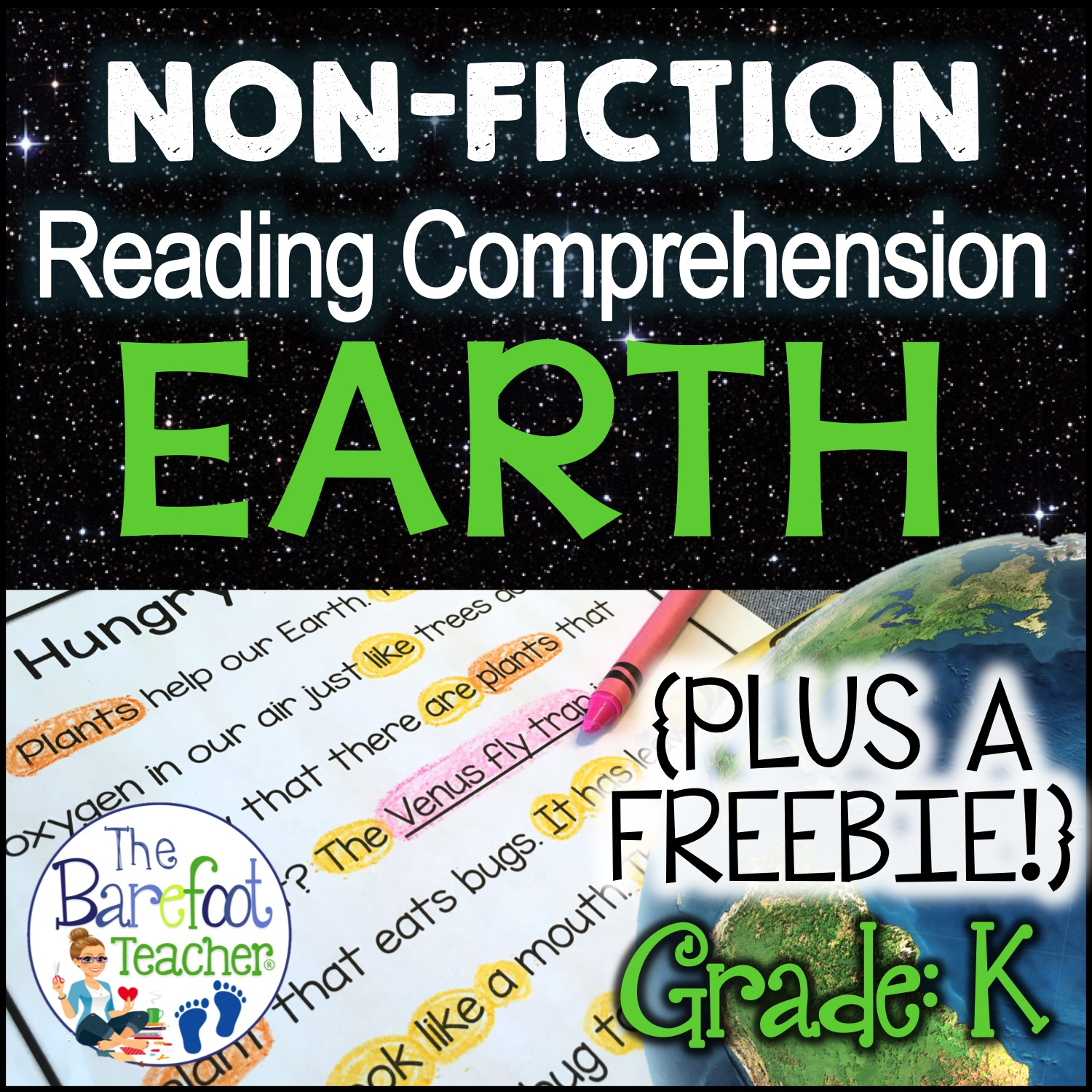 The Barefoot Teacher Earth Day Reading Comprehension Pack Plus A Free Download