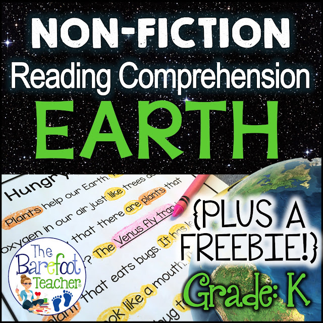I love celebrating Earth Day in Kindergarten with a variety of activities that are geared just for them. Use these reading comprehension passages with your kids to build confidence in their reading abilities while learning about our Earth at the same time. Topics include plants, the sun, trees, recycling, animals, the moon, rocks, and more!