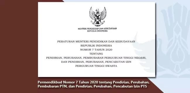Permendikbud Nomor 7 Tahun 2020