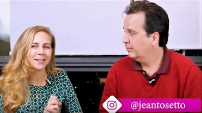 Gabriela Mosmann e Jean Tosetto (quem?) na sede da Suno Research em São Paulo.
