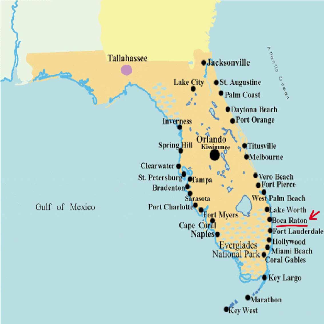 pz c: florida map