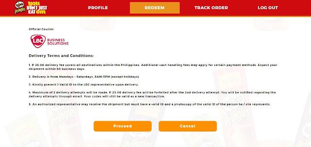 25 pesos delivery fee for pringles karaoket kit
