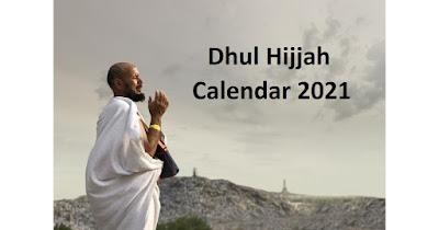 Dhul Hijjah calendar 2021