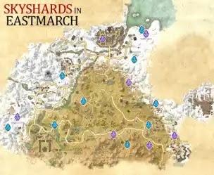 Eastmarch Skyshards,Elder Scrolls Online,Ebonheart Pact,