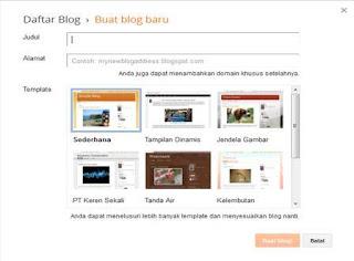 Cara Bikin Blog Baru