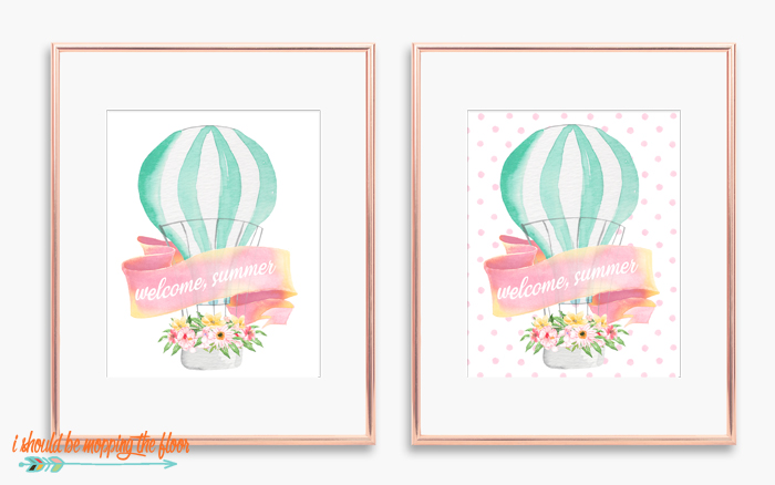 Free Hot Air Balloon Printables