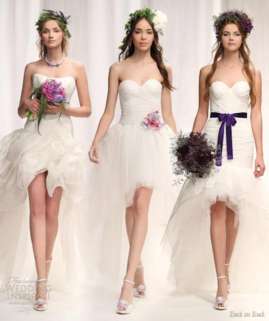 vestidos de noiva Mullet