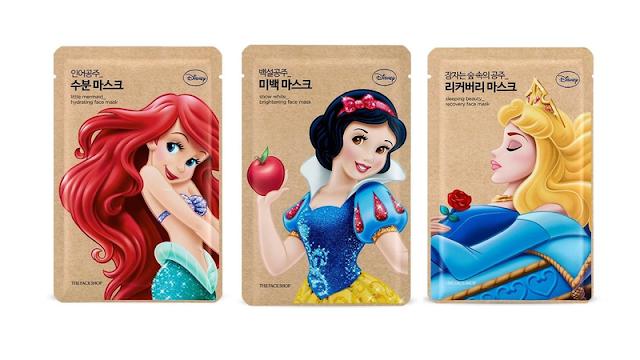 Disneyland - princesses disneyland - maquillage Disney - cosmétiques Disney - masques en tissu disney