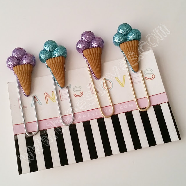 lanes-loves-5cm-gold-silver-glitter-ice-cream-cone-planner-paper-clips