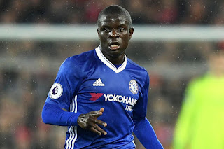 Kante playing for Chelsea
