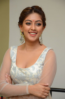 Anu Emmanuel in a Transparent White Choli Cream Ghagra Stunning Pics 092.JPG