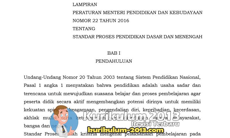 Contoh RPP Sesuai Permendikbud No 22 Tahun 2016