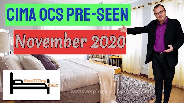 CIMA OCS November 2020 & February 2021  Pre-seen released