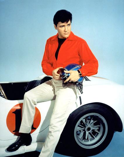 """Elvis Presley (Lucky Jackson) posando en una foto promocional  del film """"Viva Las Vegas"""" 1964"""