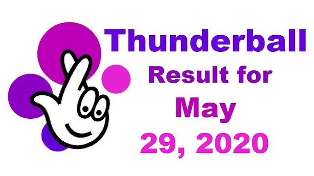 Thunderball Results for Friday, May 29, 2020