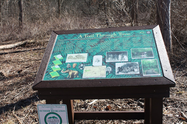 Informational placards in Hawthorne Hills Preserve.