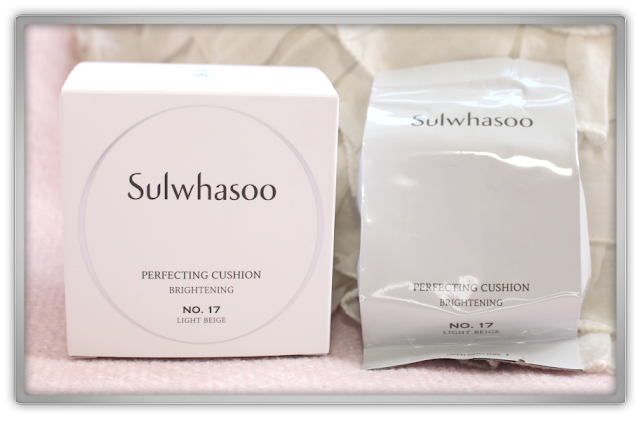 Sulwhasoo Perfecting Cushion Brightening #17 Light Beige Haul Review korean beauty blog blogger 설화수