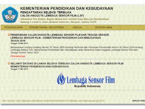 Lowongan Lembaga Sensor Film 2019