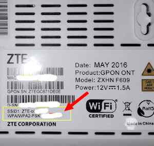 Password bawaan modem ZTE660 609