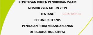 Download Juknis Penilaian Perkembangan Anak Di RA (Dirjen Pendis No 2776 Tahun 2019)