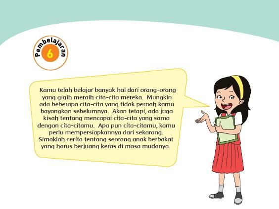 kunci jawaban tematik kelas 4 tema 6 pembelajaran 6
