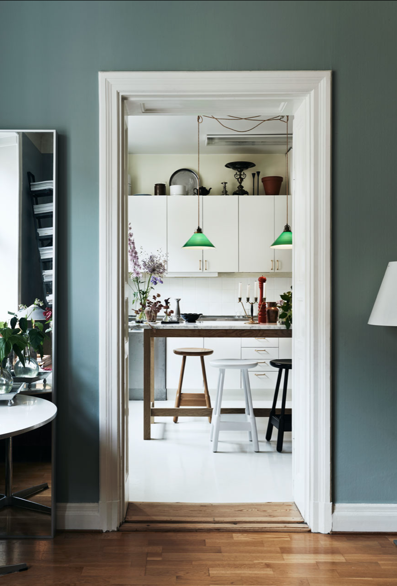 A Swedish Home In Soothing Shades of Blue and Green
