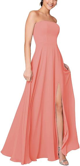 Pink Strapless Bridesmaid Dresses