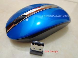 Mouse Wireless Bagus dan Awet Lenovo Bagian Depan