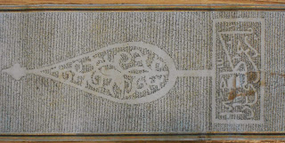 An image of an Arabic scroll from above.