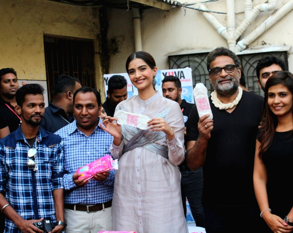 Actress Sonam Kapoor at the promotion of Hindi Film PadMan