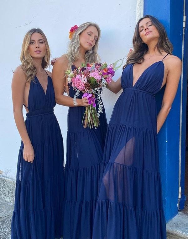 vestido azul marinho para madrinha de casamento