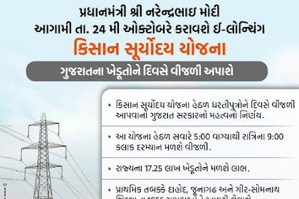 ગુજરાત કિસાન સૂર્યોદય યોજના Kisan Suryoday Yojana