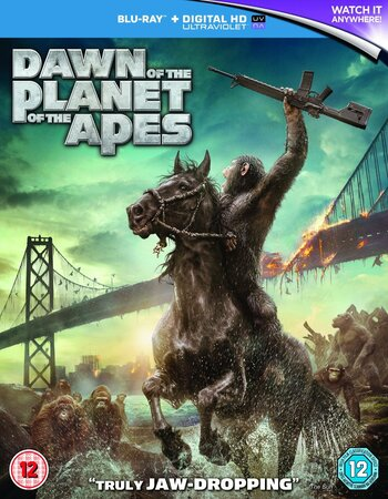 Dawn of the Planet of the Apes (2014) Dual Audio 480p BluRay 400MB