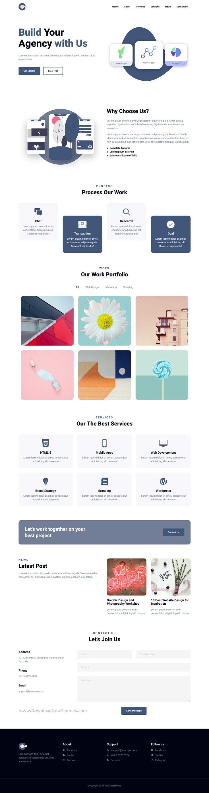Agency Landing Page Template