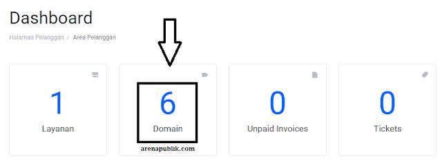 Dashboard Client Area Hostingan.id